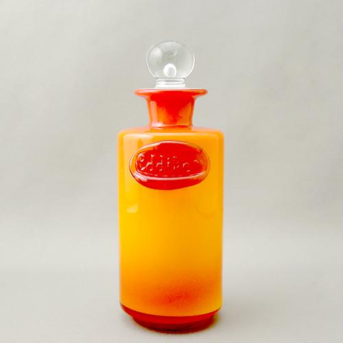 ガラスフタ瓶Orange前